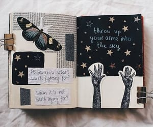 journal, butterfly, and journaling image