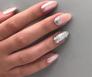 glitter, nails, and manicure image