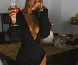 girl, dress, and drink image