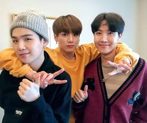 jhope, jungkook, and suga image