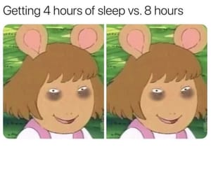 dark circles, funny, and sleep image