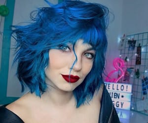 blue hair, cabelo, and colored hair image