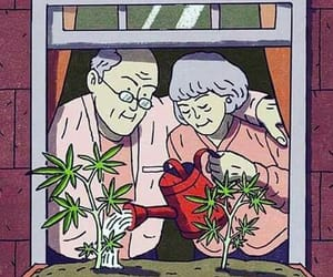 weed, love, and couple image