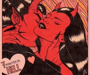 Devil, red, and love image
