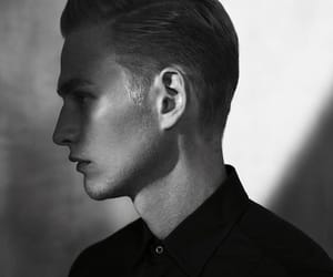 art, black and white, and boy image