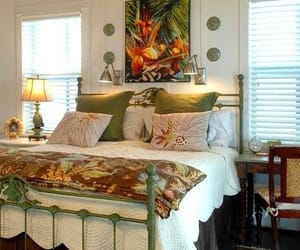 bedroom, decoracion, and tropical image