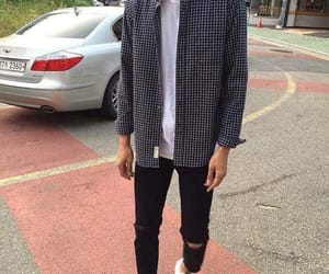 outfit, boy, and plaid image