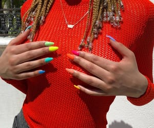 art, nails, and rainbow image
