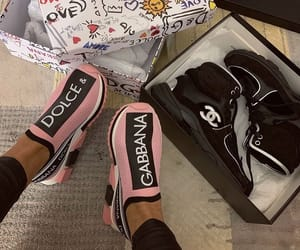 Dolce & Gabbana, shoes sneakers, and chanel pink rose image