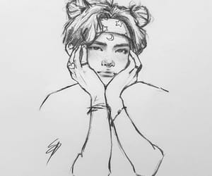 art, kpop, and art drawing image