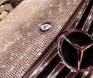 mercedes, car, and crystal image