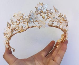 crown, accessories, and butterfly image