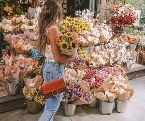 flowers, girl, and style image