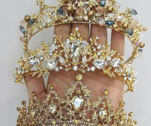 blue, crown, and glam image