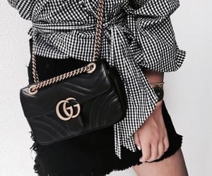 black and white, fashion blogger, and gucci image