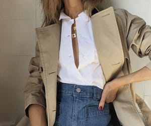 accessories, coat, and fashion image