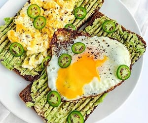 avocado, breakfast, and eggs image