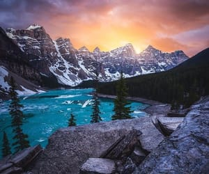 canada, sunset, and travel image