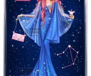 Libra, zodiac, and art image