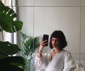 fashion, mirror, and plants image