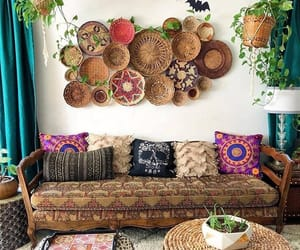 baskets, bohemian, and boho image