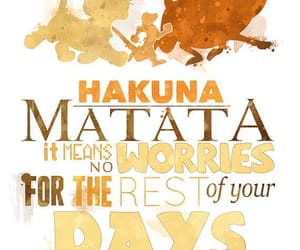 disney, hakuna matata, and lion king image