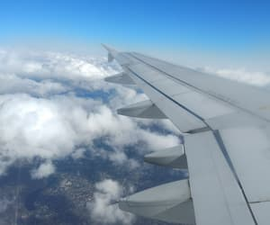 clouds, plane, and story image