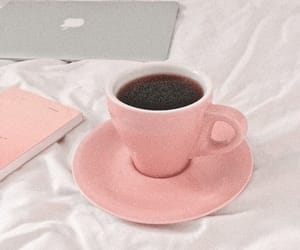 aesthetic, coffee, and pink image