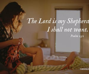 bible verses, psalm 23:1, and christian quotes image