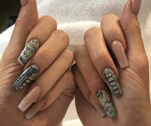nails, money, and kylie jenner image