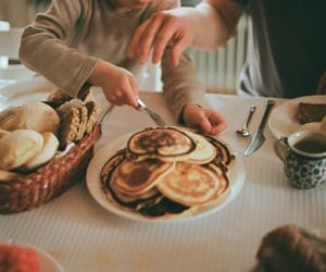 breakfast, family, and food image