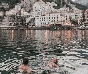 travel, couple, and city image