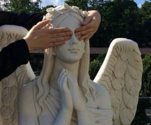 angel, statue, and hands image
