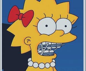 braces, lisa simpson, and meme image