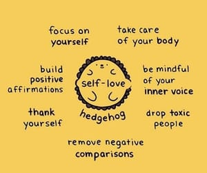 mental health, positive, and self love image