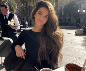 Barcelona, brown, and girl image