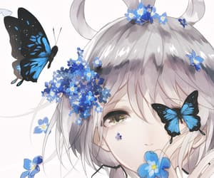 anime, butterflies, and butterfly image