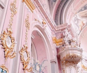 pink, gold, and aesthetic image