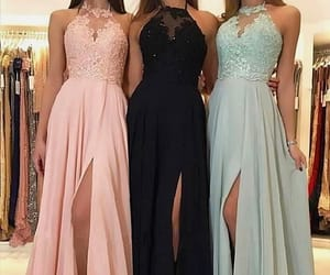 dress, lace bridesmaid dress, and bridesmaid dresses lace image