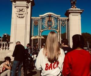 blackhair, blue, and Buckingham palace image