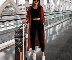 airport, fashion, and travel image