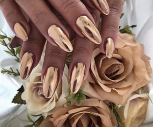 nails, rose, and gold image