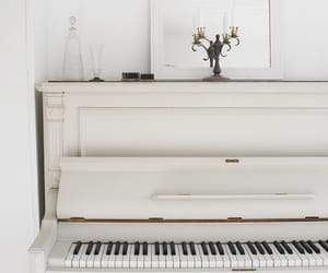 piano, music, and white image