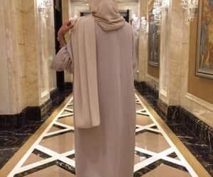 hijab, woman, and abaya image