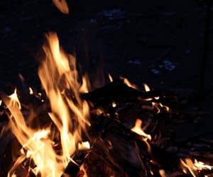 campfire, camping, and travel image