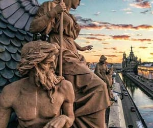architecture, russia, and sculpture image
