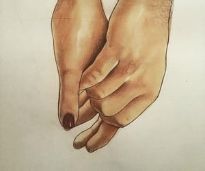 love, hands, and lovers image