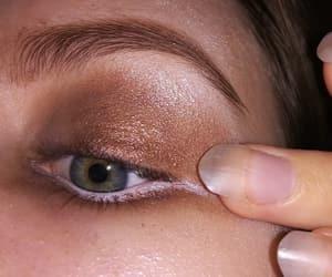 aesthetic, brown, and eye image