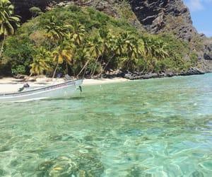 beach, clear, and caribean image