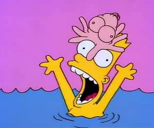 bart, funny, and bart simpson image